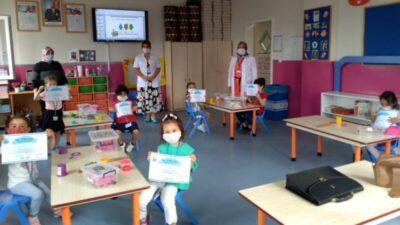Yıldırım'da anaokulu öğrencilerine hijyen eğitimi verildi