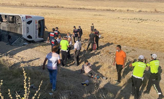 Bursa'dan yola çıkan otobüs kaza yaptı: 30 yaralı