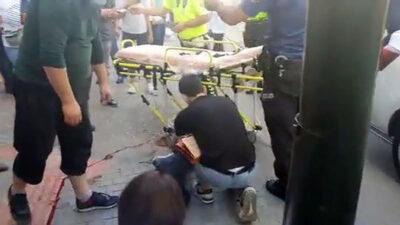 Bursa'da yolun karşısına geçerken dolmuş çarptı