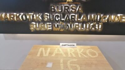 Bursa'da 2 bin adet captagon ele geçirildi