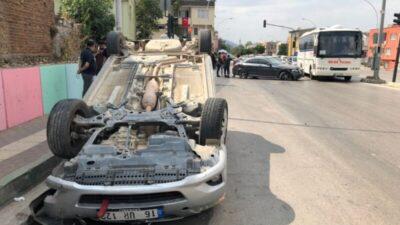 Bursa'da feci olay! Kaza yapan oğlunun yanına giderken aracıyla takla attı