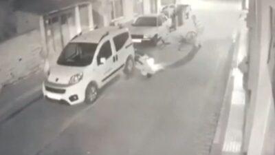 Bursa'da motosiklet ve bisiklet çarpıştı