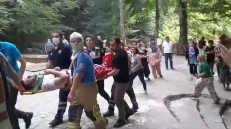 Bursa'da şelalede fotoğraf çektirmek istedi, kayalıklardan düştü