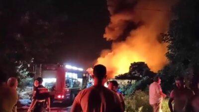 Bursa'da büyük yangın! Alevler gökyüzüne yükseldi