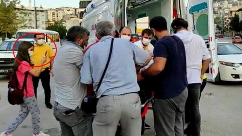 Bursa'da kazada yaralanan arkadaşını görüntüledi