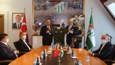 Vali Canbolat'tan Bursaspor'a ziyaret…