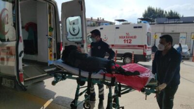 Bursa'da bisikletten yola düşen hamile kadın yaralandı