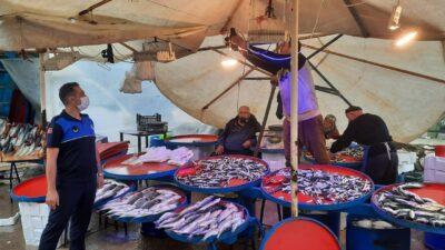 Balıkçı tezgahlarına mavi ışık denetimi