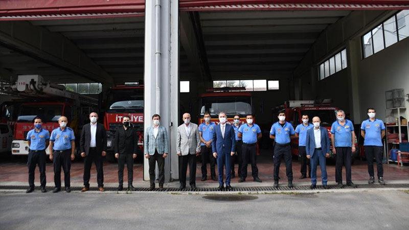 Başkan Taban'dan itfaiyeye ziyaret