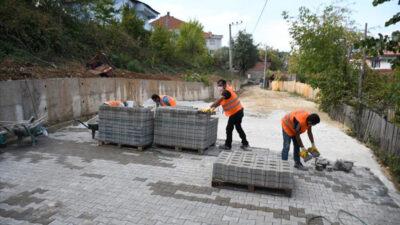Eski Bahçekaya'da sokaklar parke taşıya kaplanıyor