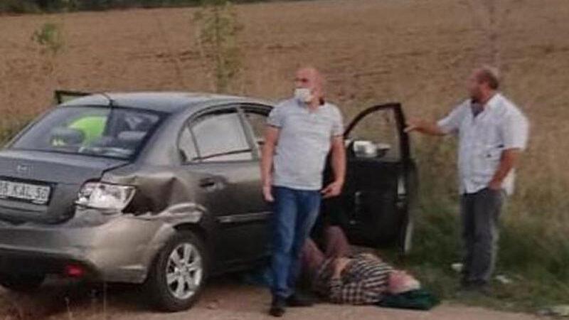 Bursa'da otomobil bariyere çarptı: 1 yaralı