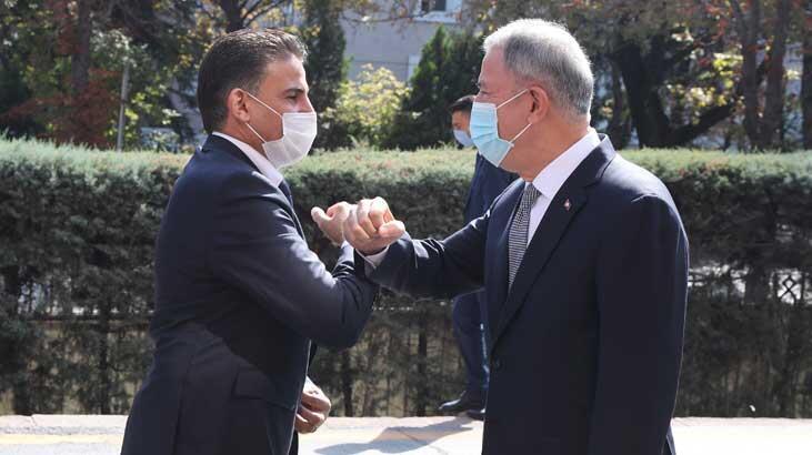 Bakan Akar, Libya Savunma Bakanı Selahaddin Namroush ile görüştü