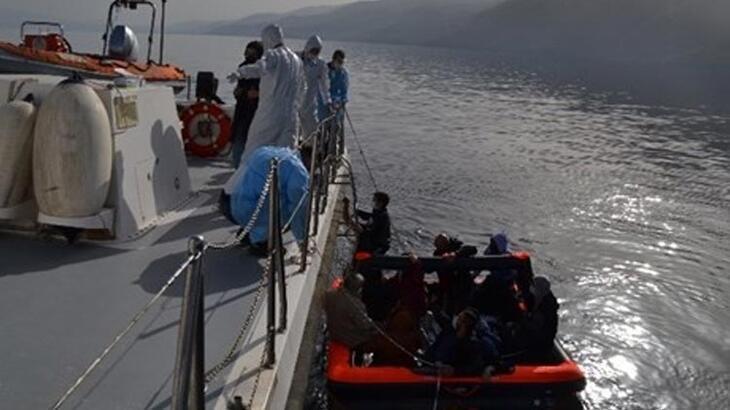 Kuşadası'nda 13 düzensiz göçmen kurtarıldı!