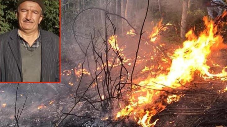 Yangını söndürmek isterken hayatını kaybetti