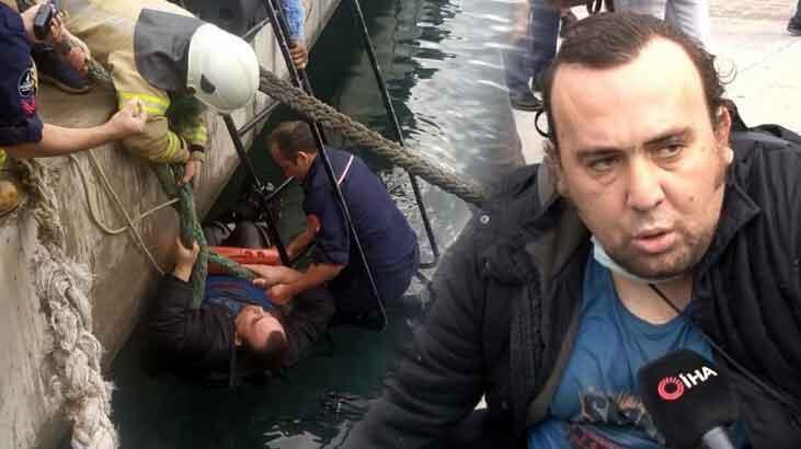 Denize düşen şahsa koronavirüs nedeniyle el uzatmadılar!