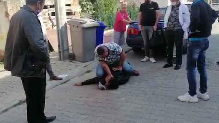 Marketten ürün çalan hırsızı vatandaşlar böyle yakaladı!