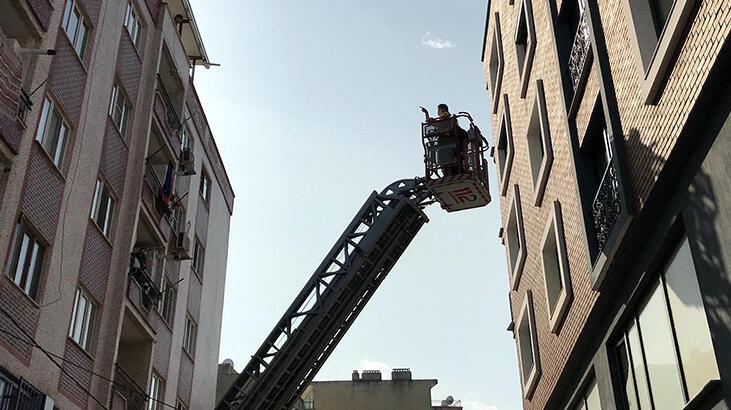Yangın paniği! 8 kişi kurtarıldı