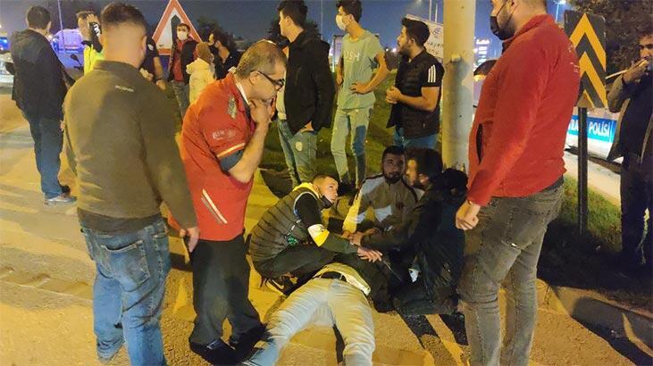 Bursa'da kazayı görüp, aniden frene bastı! Ortalık karıştı