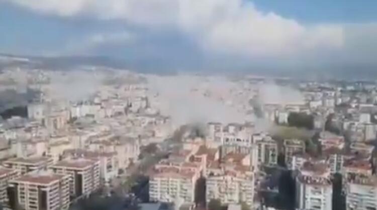 Şiddetli depremin ardından İstanbul'da bina boşaltılıyor!