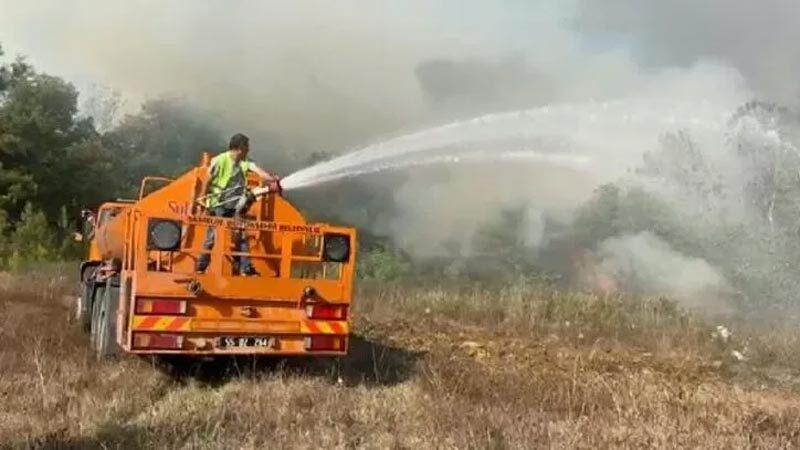 Samsun'da orman yangını! Çok sayıda ekip sevk edildi