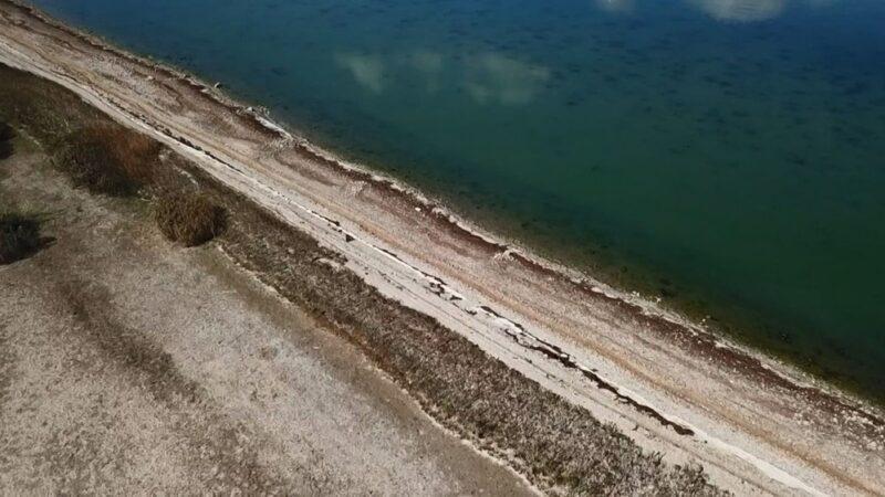 Su seviyesi düştü, bin 500 yıllık hat ortaya çıktı