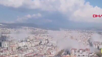 İzmir'deki 6.6'lık depremden kareler…