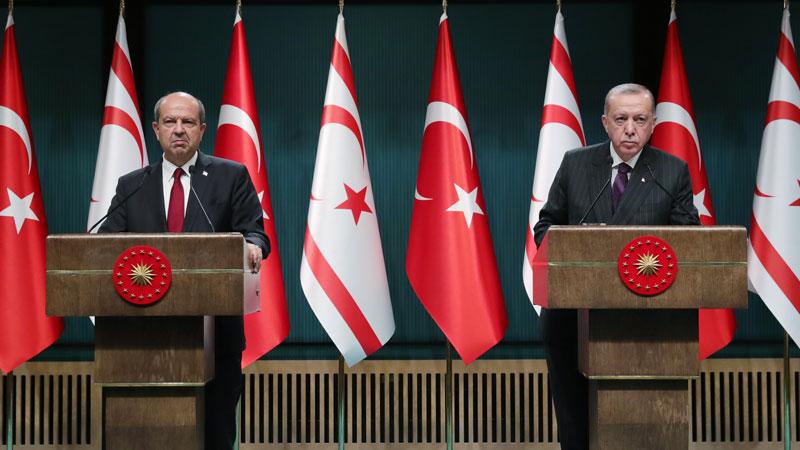Cumhurbaşkanı Erdoğan ve KKTC Başbakanı Tatar'dan flaş açıklamalar!