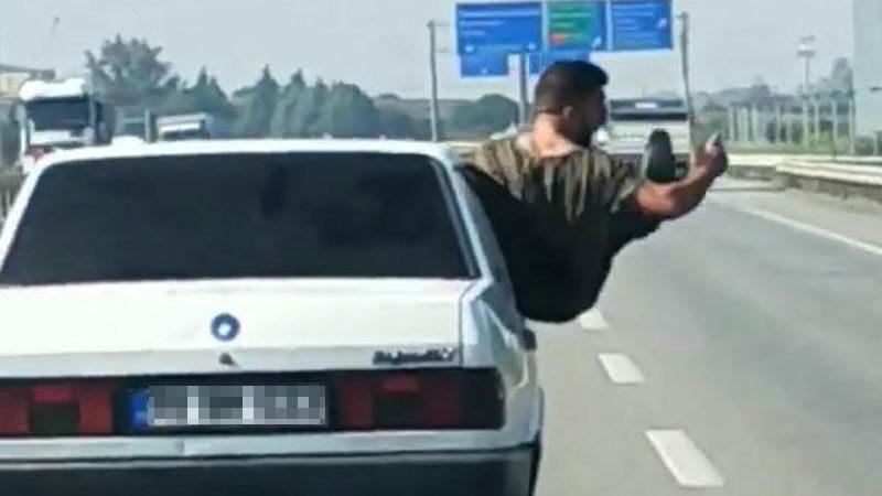 Bursa'da trafikte tehlikeli hareketler