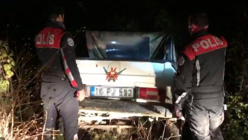 Bursa'da aracında tüfek olan sürücü polisten kaçtı, ceza yedi