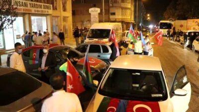 Bursa'dan Azerbaycan'a destek konvoyu