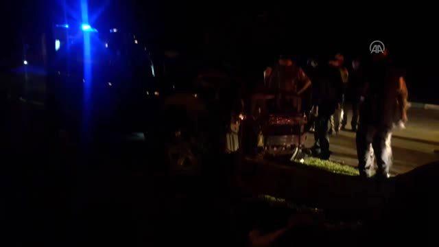 Bursa'da çaldıkları araçla kaçarken kaza yapan 2 şüpheli yakalandı
