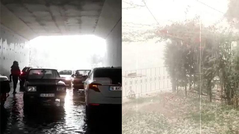 Meteoroloji uyarmıştı! Bursa'da sağanak ve dolu hayatı felç etti