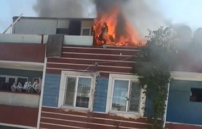 Bursa'da çatı yangını
