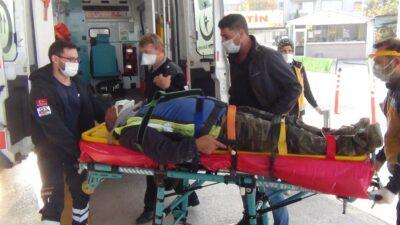 Bursa'da demir ustası ölümden döndü