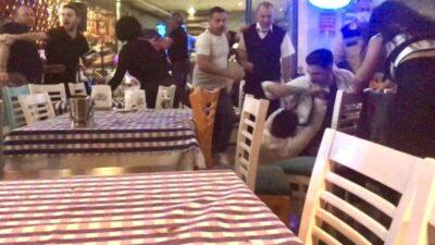 Bursa'da eğlence mekanındaki kavgada ne maske ne mesafe…O anlar kamerada
