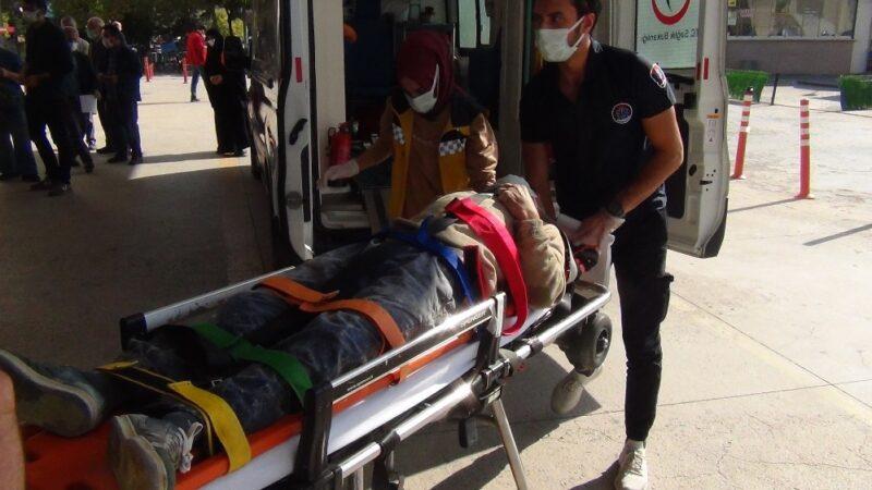 Bursa'da iskeleden düşen işçi ağır yaralandı