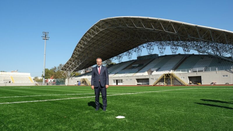 Emektar stadyuma Büyükşehir eli değdi…