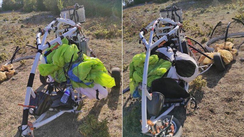 Amanoslar'da PKK'ya ait paramotor ele geçirildi