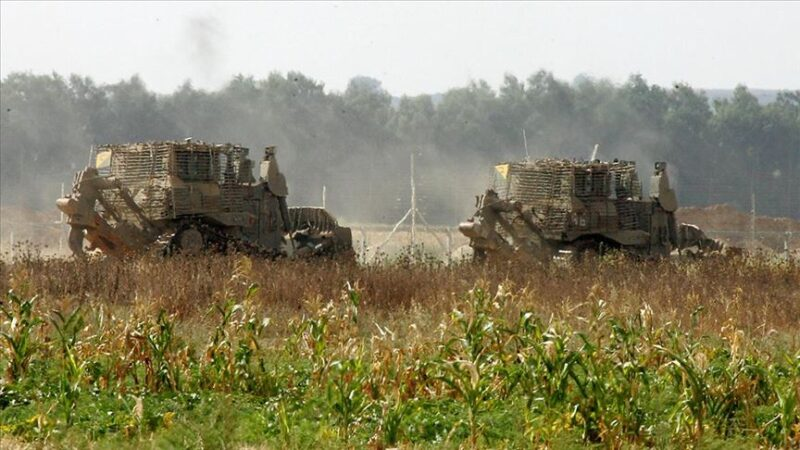 İsrail güçleri Gazze sınırındaki tarım arazilerine zarar verdi