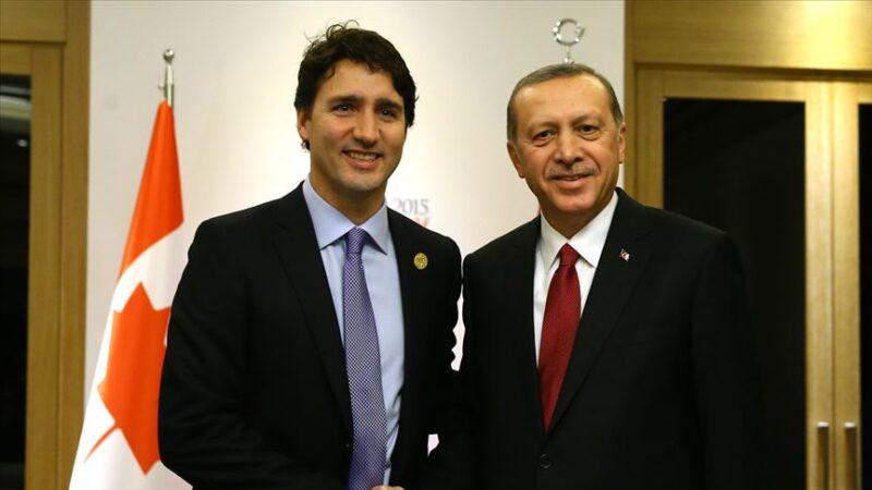 Cumhurbaşkanı Erdoğan, Kanada Başbakanı ile görüştü