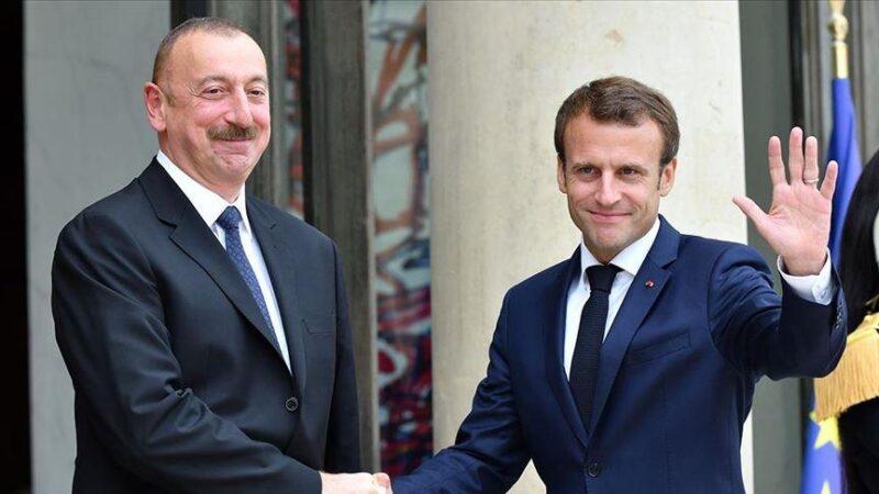 Aliyev ve Macron'dan Dağlık Karabağ görüşmesi
