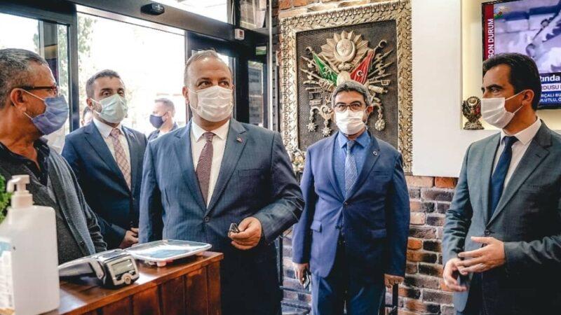 Vali Canbolat, Kestel'de koronavirüs denetimine katıldı