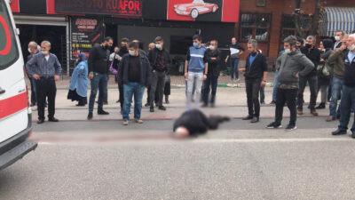 Bursa'da feci ölüm! Güvenlik kamerasına böyle yansıdı