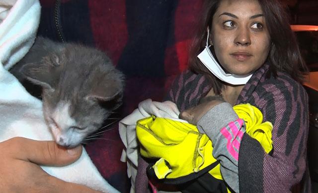 Kardeşlerin hayatını kedi kurtardı