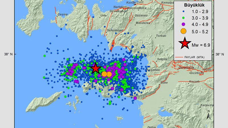 İzmir'de 13 günde 3 bin 587 artçı