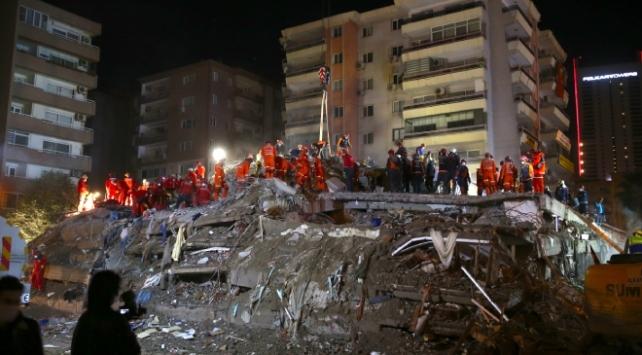 İzmir'de can kaybı 116'ya yükseldi