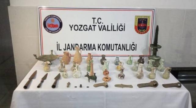 Yozgat'ta tarihi eser operasyonu: 3 gözaltı