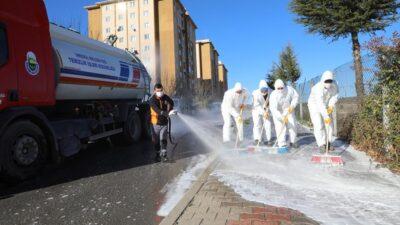 İnegöl'de dezenfekte çalışmaları aralıksız sürüyor