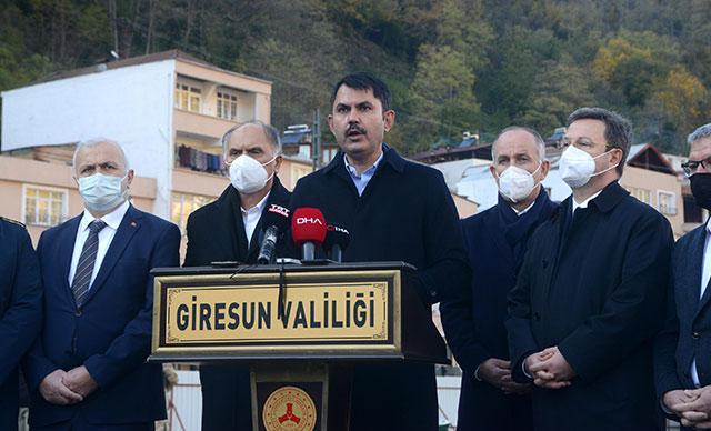 Bakan Kurum: Giresun'daki yeni konutlar haziran ayında teslim edilecek