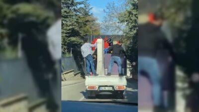 Bursa'da tehlike dolu anlar